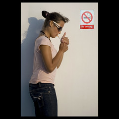 No smoking (fotobicchio) Tags: glasses nikon funny d70 cigarette smoking nosmoking