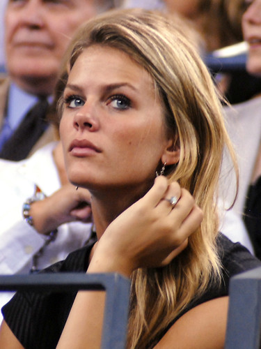Brooklyn Decker Watching Andy Roddick Lose at US Open