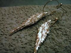 Feather Leaf Earrings (bbel-uk) Tags: wood flowers tree nature leaves birds rose forest necklace leaf jewellery bracelet earrings jewelery bbel