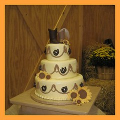 Cowboy Boot Wedding Cake (TN Something Special Cakes) Tags: cake cowboy boots sunflowers horseshoes cowboyweddingcake