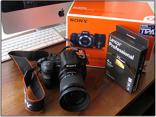 My new photo equipment - Sony Alpha DSLR-A200