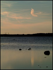 Blue feelings (Kirsten M Lentoft) Tags: blue sky cloud sunlight nature water denmark rocks searchthebest silhouettes fjord roskilde natureselegantshots kirstenmlentoft