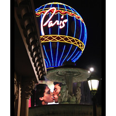 postmodern romance (ecstaticist) Tags: vegas light paris scale sushi lights neon lasvegas surface romance casio patio strip anchor recycling depth reference pastiche sushibar posmodernism exf1