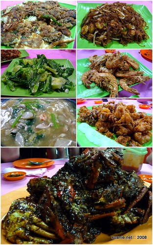 Seafood dinner at Kang Guan, Pulau Carey