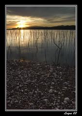 Atardecer Pantano Cubillas/Sunset Marsh Cubillas (El Poto/Jose Mª) Tags: españa luz rio landscape lago atardecer landscapes agua europa pentax pantano andalucia granada nubes vega senderismo rutas cubillas pantanocubillas pentaxk10