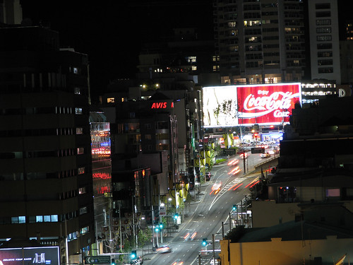 william street and the coke sign