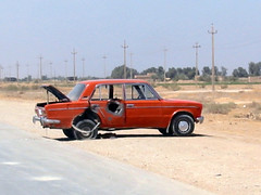 car in Iraq ? (Salwan ALabdaly  ) Tags: war king sommer iraq central bank saddam nuri has currency iraqi faisal babel   dinars   ghazi     husseins rafidain   alsaid         salwan  alabdaly
