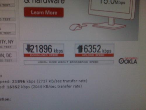 Super speedy internet!