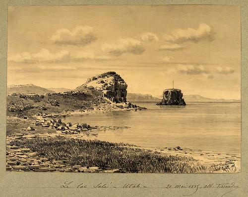 009- Vista del Lago Salado en Utah 1885