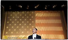 Barack. (Ryan Brenizer) Tags: nyc newyorkcity nikon flag politics noflash speech obama d3 barackobama waldorfastoriahotel 2470mmf28g alsmithdinner