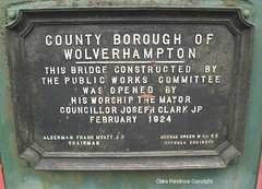 They just don't do things like they used to. (Lady Wulfrun) Tags: bridge public plaque canal construction mayor works opening february committee waterways 1924 wolverhampton birminghamcanal a460 cannockroad josephclarkjp