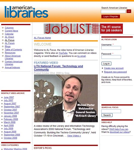 American Libraries Focus Video: LITA2008
