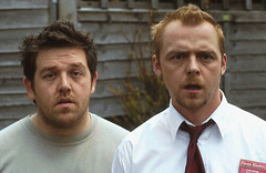 Frost (left) & Pegg (right) in Shaun of the Dead