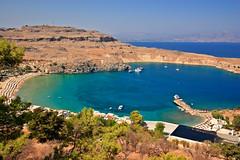 Lindos Bay (SunCat) Tags: travel vacation bay europe all greece 2008 rodos rhodes lindos rhodos