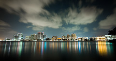 Downtown West Palm Beach (_Uriah) Tags: water night reflections downtown westpalmbeach flagler cityplace trumptowers flaglermuseum sigma1530mm royalpalmbridge d700 royalpoincianachapel