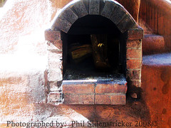 Fireplace (phil_sidenstricker) Tags: wood brick fireplace naturallight adobe lightshadow stucco charred donotcopy bej valleyofthesunphoenixmetro upcoming:event=981998 southmountainfarmphoenixazusa