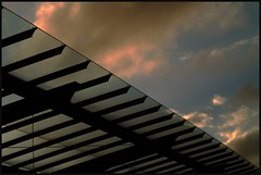Sunrise at the Airport (Kirsten M Lentoft) Tags: roof sky clouds sunrise copenhagen denmark airport slhouette abigfave betterthangood kirstenmlentoft