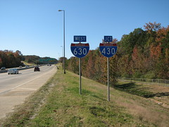 West 630, Jct 430 (US 71) Tags: highways arkansas roadsigns highwaysigns i430 i630 interstate430 interstate630