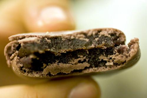 Blackberry macaron innards