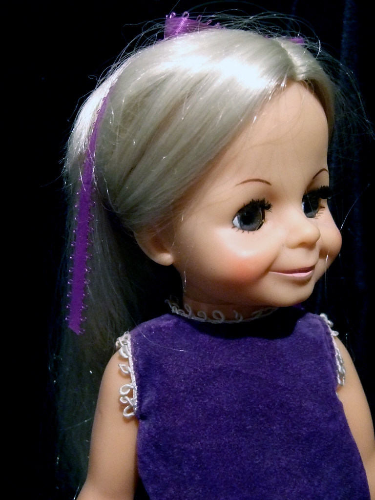 Beautiful Velvet Vintage Ideal Doll Christmas Wishes