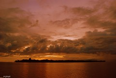 Sunset island, sunset burned waters.. (docjabagat) Tags: sunset sea island bohol soe cabilao sunsetisland teampilipinas garbongbisaya flickrclassique cabilaobohol