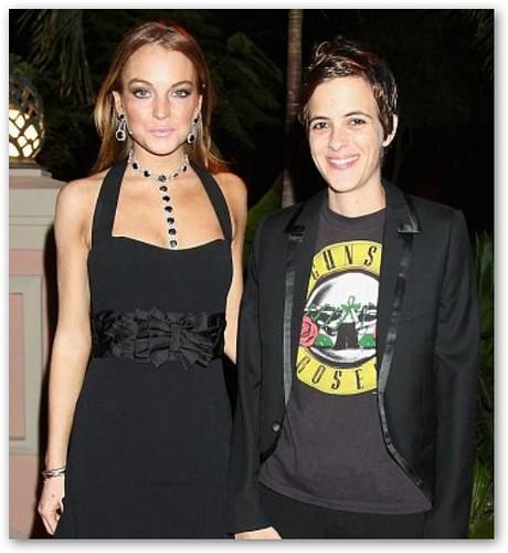 Lindsay Lohan & Samantha Ronson Attend Gala