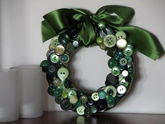 It really is beginning to look like Christmas (cmr727) Tags: christmas green buttonwreath