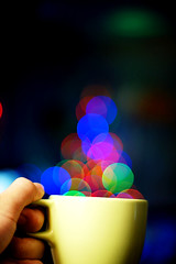 A Cup of Bokeh, please? (Shermeee) Tags: christmas cup d50 50mm nikon bokeh sb600 f18 50mmf18d 2008 stress