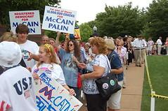 McCain-Sarah Palin rally at Franklin & Marshall College