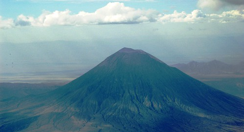 "mt_aerial_Ol Doinyo Lengai (""Mountain of God"" in Masai language) Nov'08"