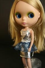 Greta with Blythe Chic Silver Dress
