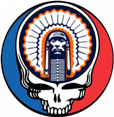 University of Illinois Chief Illiniwek Grateful Dead Steal Your Face