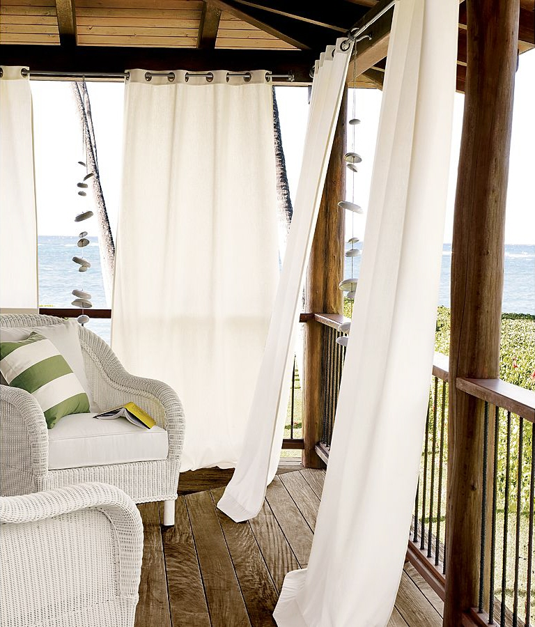 how to outdoor drapes