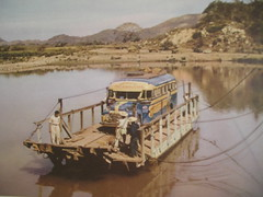 ferry carrying bus