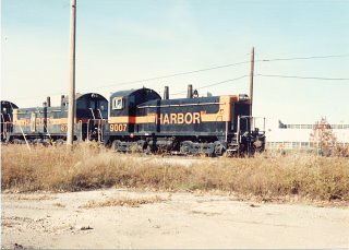 Eastbound Indiana Harbor Belt transfer train. Alsip Illinois. Late October 1990.