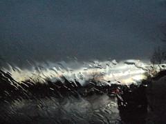 Rain and Glass (Irene Bonacchi) Tags: road street trees cars water glass car rain alberi lights strada nuvole grigio acqua pioggia macchina baum glas regen vetro automobili fari macchine grigie