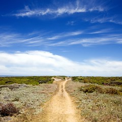 To the beach (John_Wilkinson) Tags: summer beach clouds path pearlbay yzerfontein vertorama