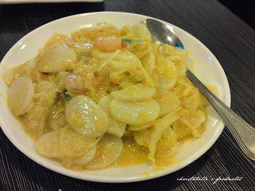 上海滬園湯包館蝦仁蟹黃炒年糕