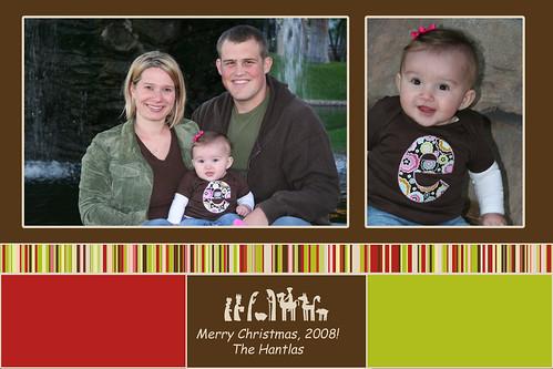 Hantlas' 2008 Christmas Card