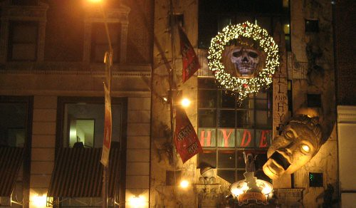 Xmas pic of the Jekyll & Hyde Club in NYC