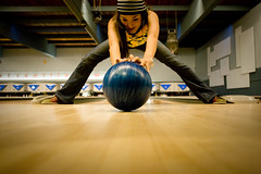 Stretch (lintmachine) Tags: seattle blue west ball bowl 11 stretch paula bowling