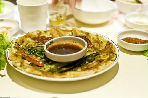 Pak Jyun (Korean seafood pancake)