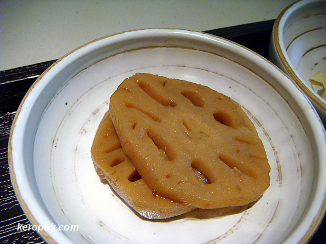 Sliced Lotus Marinated with Soy