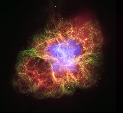 Crab Nebula: A Star's Spectacular Death (NASA, Chandra, 10/24/06) (NASA's Marshall Space Flight Center) Tags: star space nasa astrophotography astronomy crabnebula chandra whitedwarf spitzerspacetelescope hubblespacetelescope xraytelescope neutronstar chandraxrayobservatory celestrialwatching