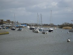 Boats in Christchurch (crwilliams) Tags: christchurch boats dorset date:month=march date:day=14 date:year=2009 date:hour=12 date:wday=saturday