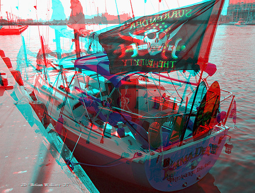 3D Photo pirate chip red cyan