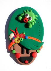 Broche Oh! Lala's! (Pollofrito!!!!) Tags: summer orange brown verde green girl smile happy mar chica time crab pop nia verano sonrisa marron naranja alegra cangrejo mulata pollofrito ohlalas