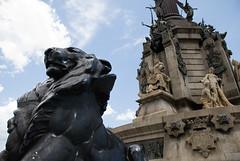 El Lle i el Monument a Colom (Matt Jardine) Tags: barcelona columbus monument statue spain lion christopher portal pau colombo lle plaa colom cristoforo