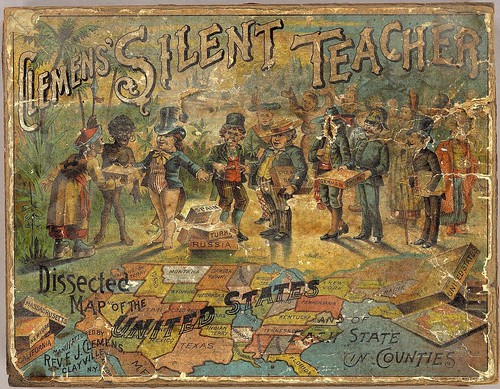 Clemen's Silent Teacher - Dissected map of the United States