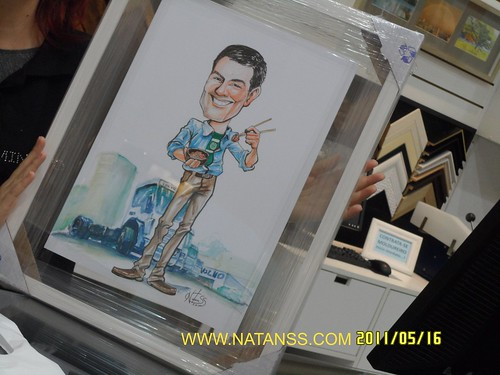 Caricatura de Presente_AQUARELA_NatanSS_2011 by natanss